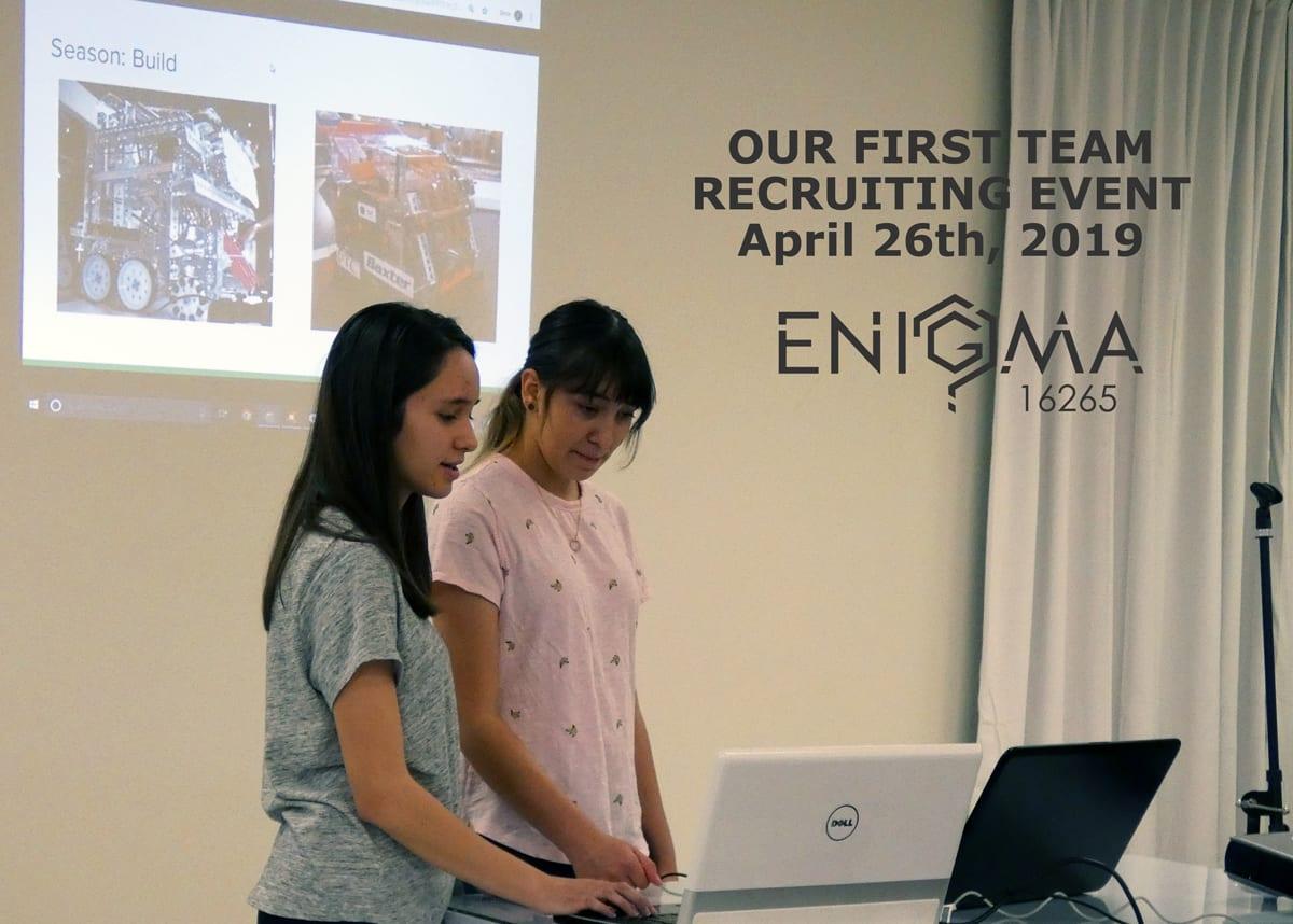 First Recruiting Event